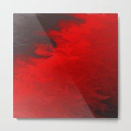Bright Blood Red Flowing Liquid Metal Print