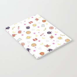 sailor moon pattern Notebook