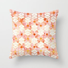 Rose Gold Butterfly Deco Throw Pillow