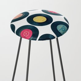 Vinyl Collection Counter Stool