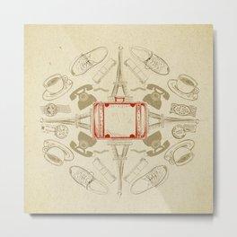 The Suitcase Metal Print