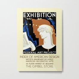 American Design Exhibition Metal Print