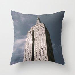 Empire State New York Throw Pillow