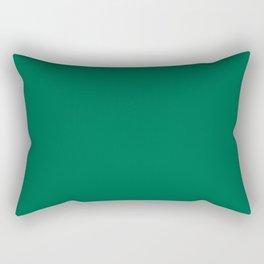 Solid Emerald Rectangular Pillow