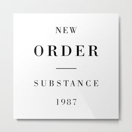 New Order Substance 1987 Metal Print