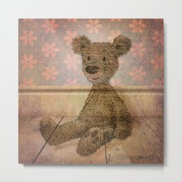 Barely Bear - A Vintage Teddy Metal Print