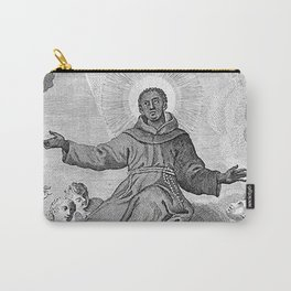Portrait of Saint Benedict of Palermo - Unknown Artist Carry-All Pouch