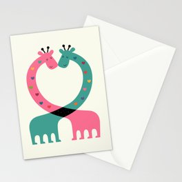 Love With Heart Stationery Cards