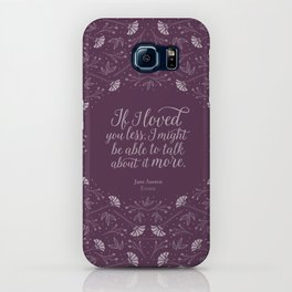 Purple Floral Love Quote  Emma Jane Austen iPhone Case