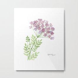 Angelica, floral watercolor painting Metal Print
