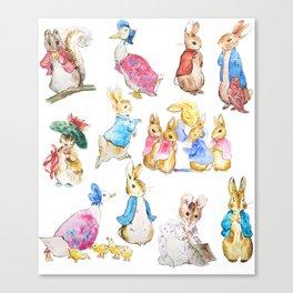 Tales of Peter Rabbit  characters Beatrix Potter Canvas Print