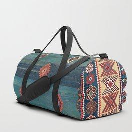 Sivas Antique Turkish Niche Kilim Print Duffle Bag