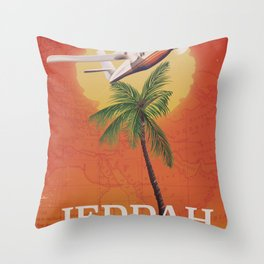 Jeddah Saudi Arabia Vintage travel poster Throw Pillow