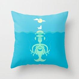Sea Totem Throw Pillow