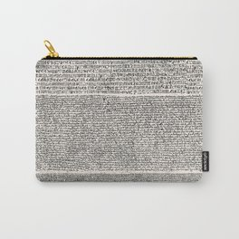 The Rosetta Stone // Antique White Carry-All Pouch