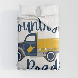 Country Roads West Virginia Pickup Truck WV Gifts Comforters