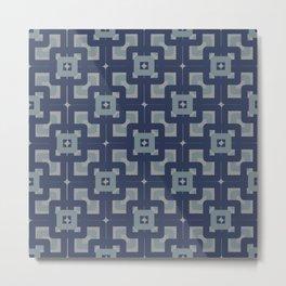 60s vintage fabric N°1 Metal Print