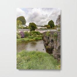 Portrait of Withypool Bridge Metal Print