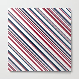 Red and Blue Stripes Metal Print