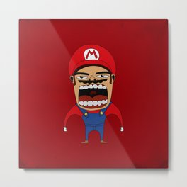 Screaming Mario Metal Print