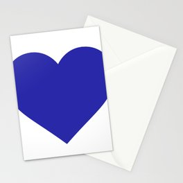 Heart (Navy Blue & White) Stationery Cards