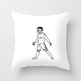 ronaldo christiano cartoon Throw Pillow