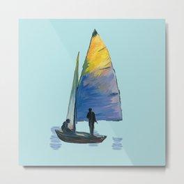The sail Boat Metal Print