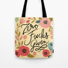 Pretty Sweary: Zero Fucks Given, in Yellow Tote Bag