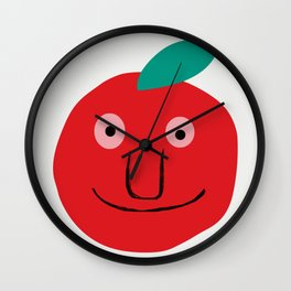 An apple a day Wall Clock