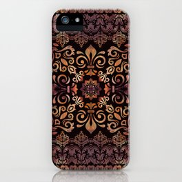 Oriental Damask Ornament - Vintage #3 iPhone Case