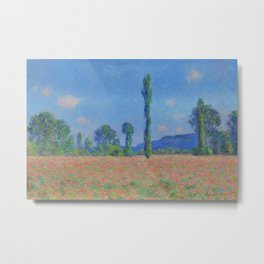 Poppy Field - Giverny Landscape Painting by Claude Monet Metal Print