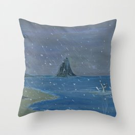Let it snow, Moby ... Throw Pillow