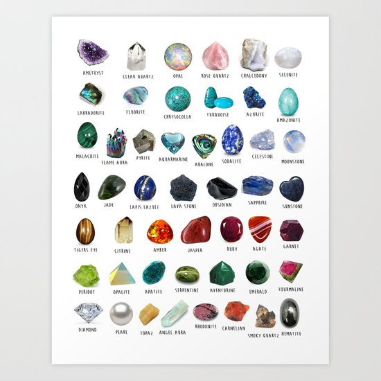 crystals gemstones identification by darkkittyrose