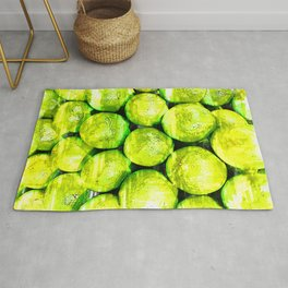 Bright Green Lime Pattern - For Fruit Lovers Rug
