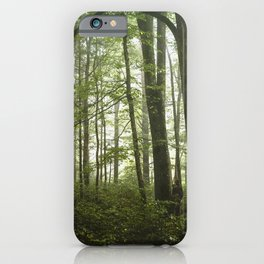 Smoky Mountain National Park - Green Foggy Forest iPhone Case