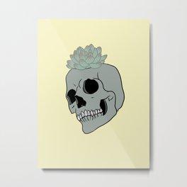 succulent skull Metal Print