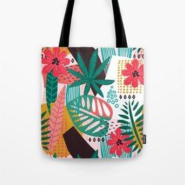 Matisse Inspired Pop Art Tropical Fun Jungle Pattern Tote Bag