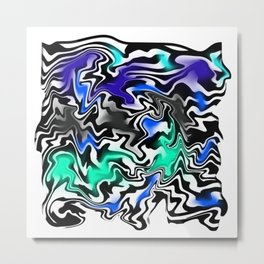 Fluid Colorful Metal Print