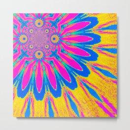 The Modern Flower Rainbow Metal Print