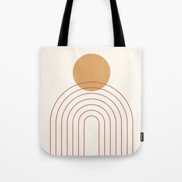 Mid Century Modern Geometric 36 in Terracotta Gold Beige Tote Bag