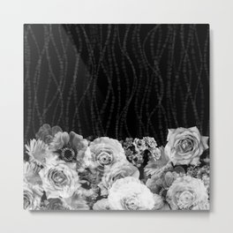 Black and White Floral #1 Metal Print
