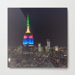 Empire state in the night  Metal Print