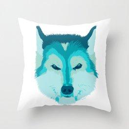 husky - wht Throw Pillow