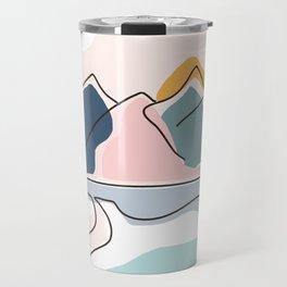 Minimalistic Landscape Travel Mug