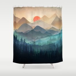 Wilderness Becomes Alive at Night Shower Curtain