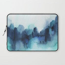 Wonderful blues Abstract watercolor Laptop Sleeve