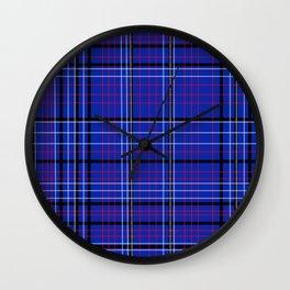 Plaid Pattern / GFTPlaid003 Wall Clock