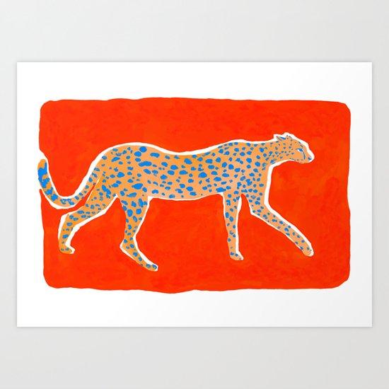 Leopard - Orange by sunlee_art
