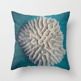 Coral Shell Throw Pillow