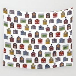 Barn Quilt Illustration Wall Tapestry